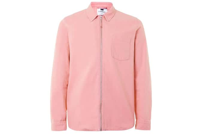 Topman Pink Zip Through Overshirt