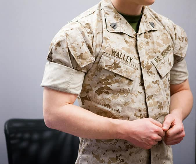 Marine Shirt Fold/Roll