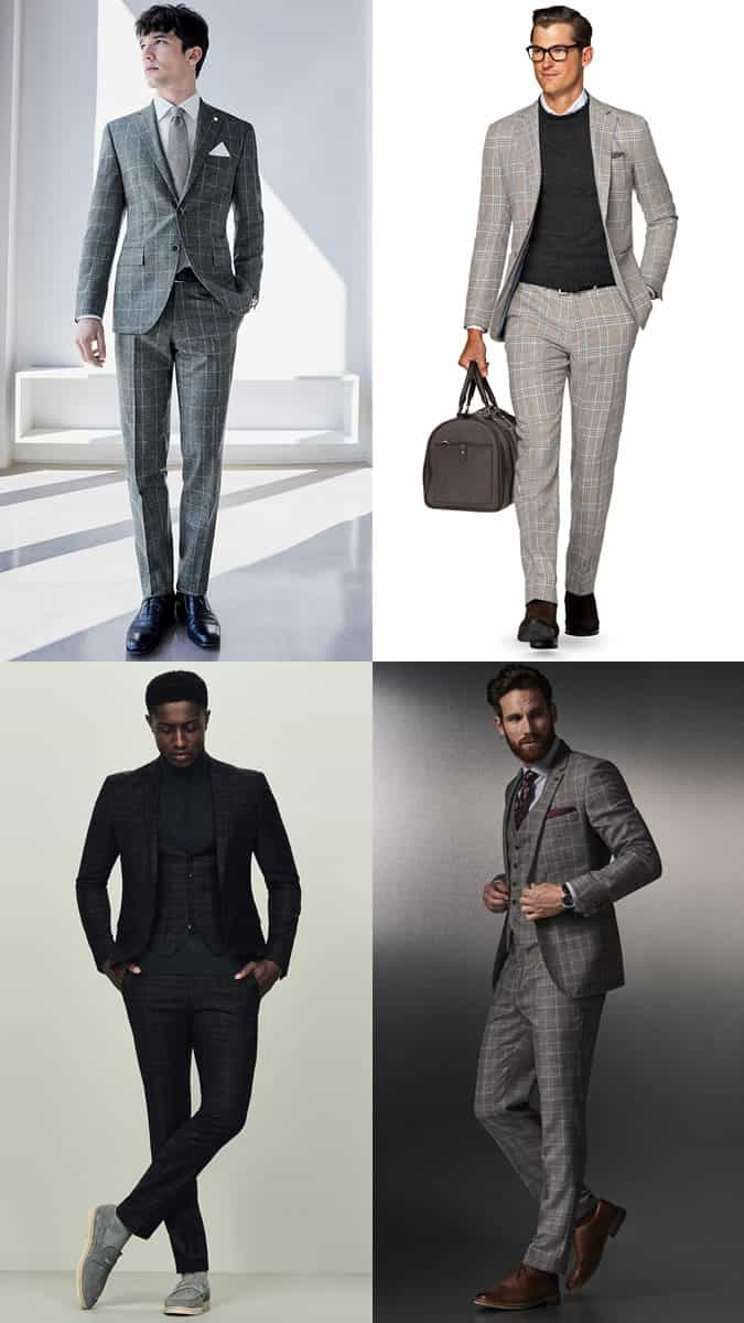 Men's Checked Suit Outfit Inspiration Lookbook