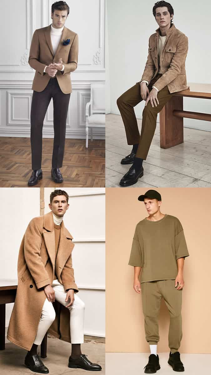 Men's Earth Tone Tonal Outfit Inspiration Lookbook