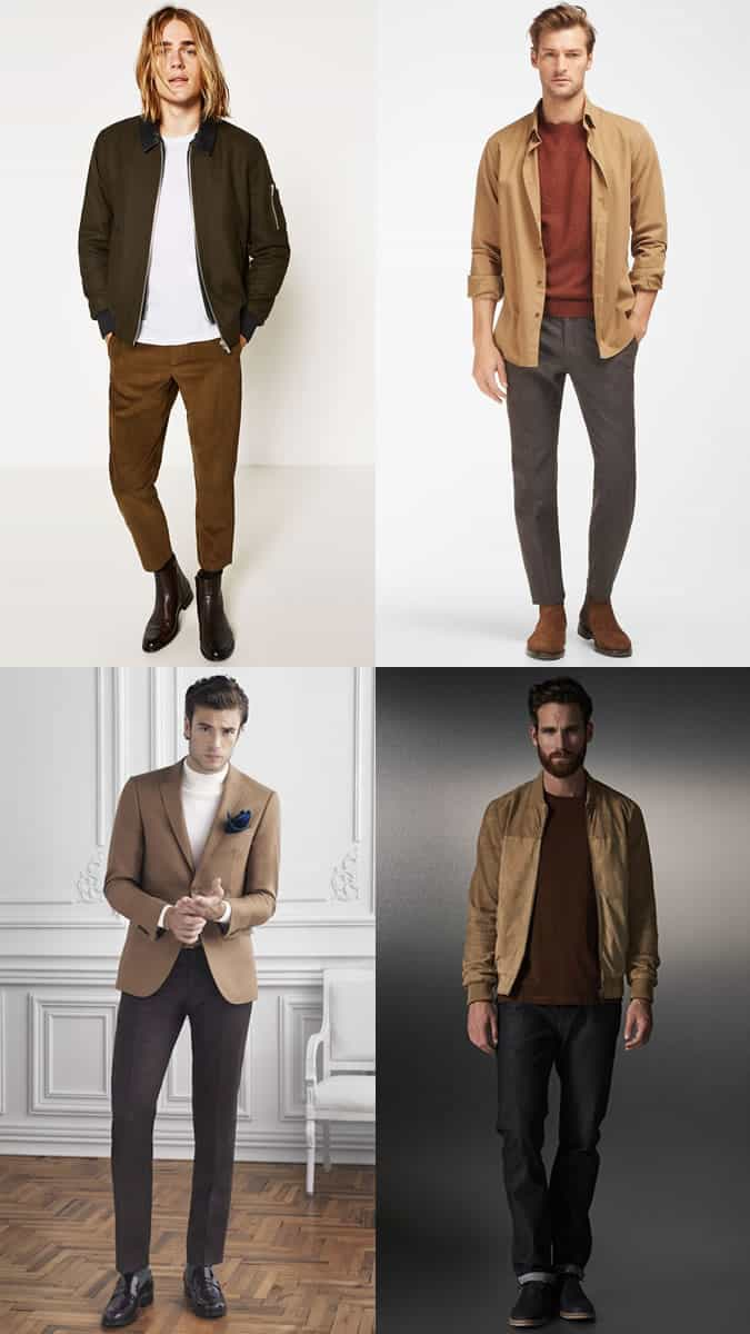 Men's Earth Tone outfit inspiration lookbook for autumn/winter 2016