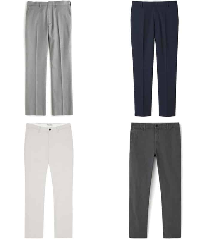 Men's straight-Leg Trousers and Chinos