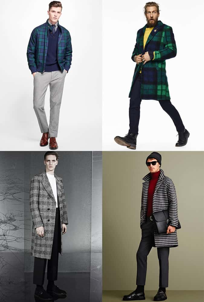 Men's Checked Coats and Jackets outfit inspiration lookbook - autumn/winter 2016 fashion trend