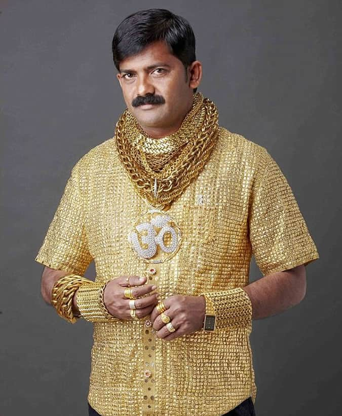 Most Expensive Menswear Pieces Ever Made - gold shirt