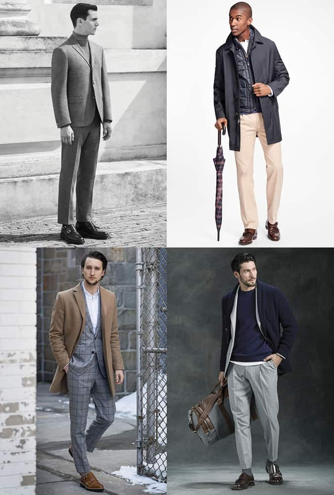 Men's Chunky Monk-Strap Shoes Outfit Inspiration Lookbook For Autumn/Winter 2016
