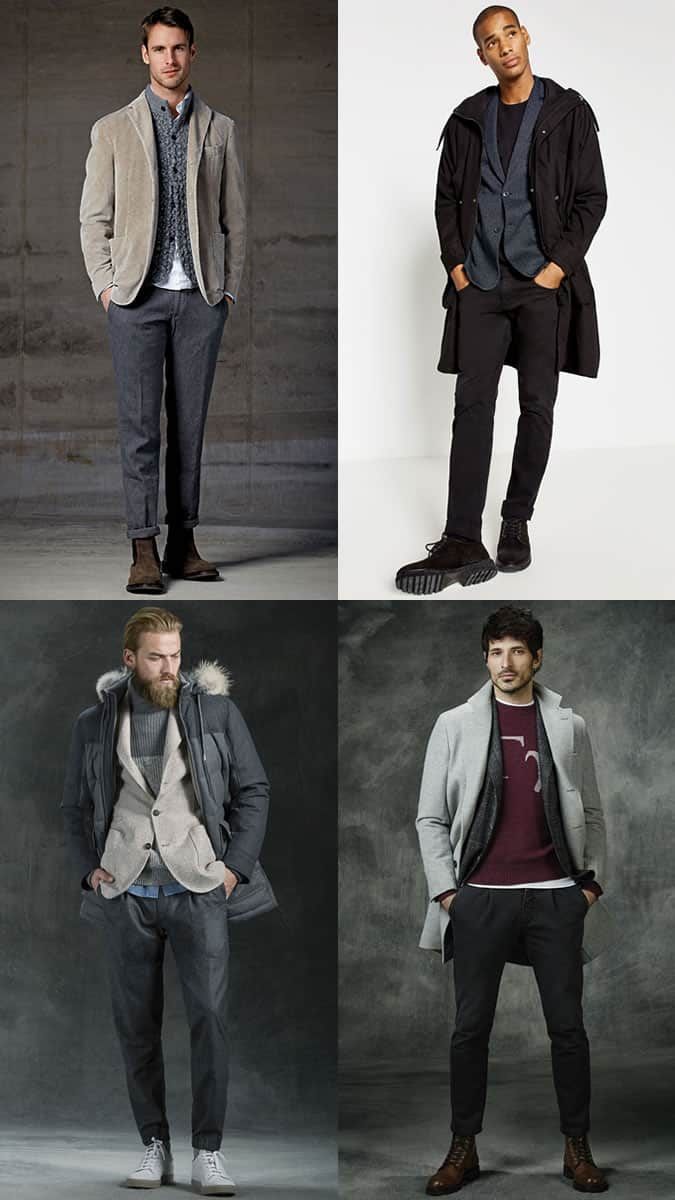 Men's Unstructured Blazer Layering Outfit Inspiration Lookbook for Autumn/Winter