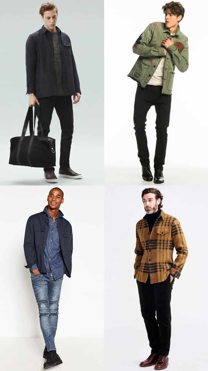 Men's Shacket Layering Outfit Inspiration Lookbook For Autumn and Winter