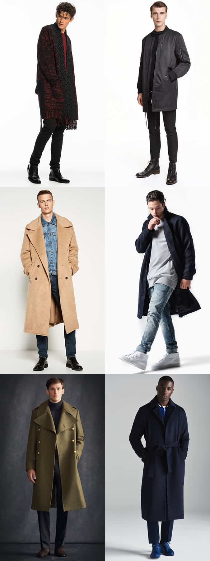 Men's Oversized Coats and Longline Jacket Outfit inspiration lookbook