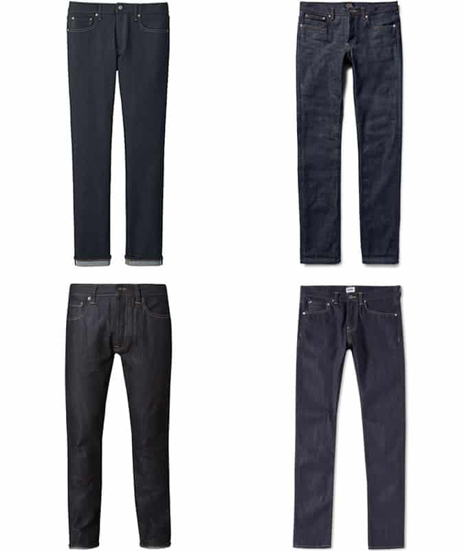 Men's Slim Dark Selvedge Jeans