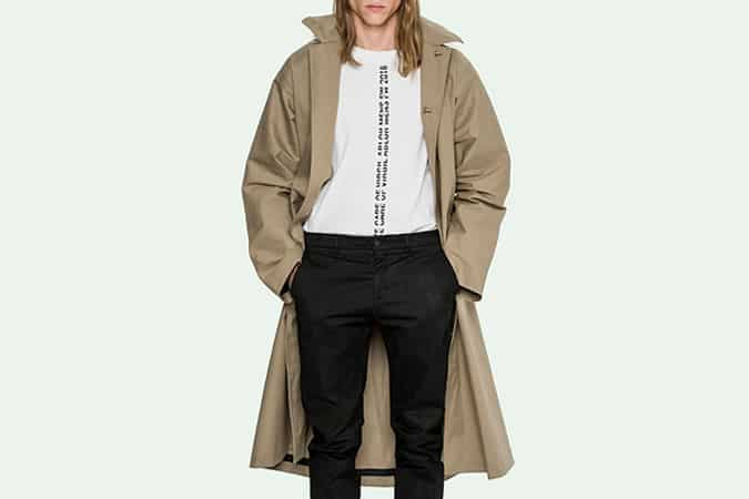 Off-White Camel Raincoat