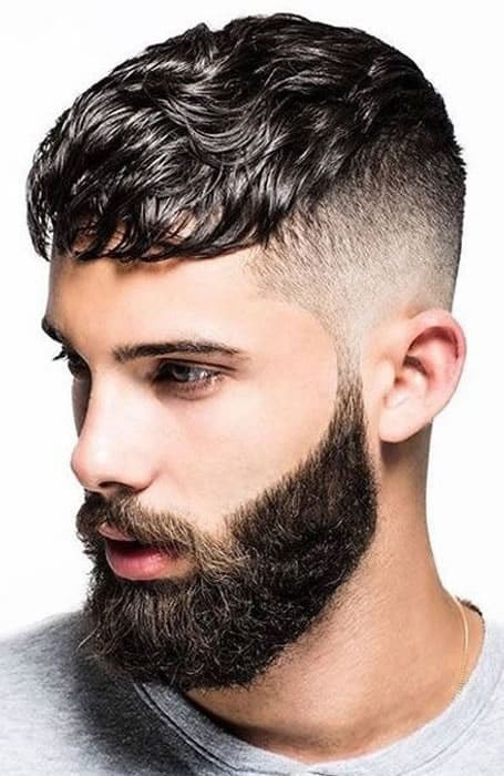 Men's Mid Fade With Textured Fringe Hairstyle