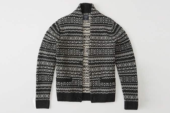 Abercrombie & Fitch Patterned Shawl Cardigan