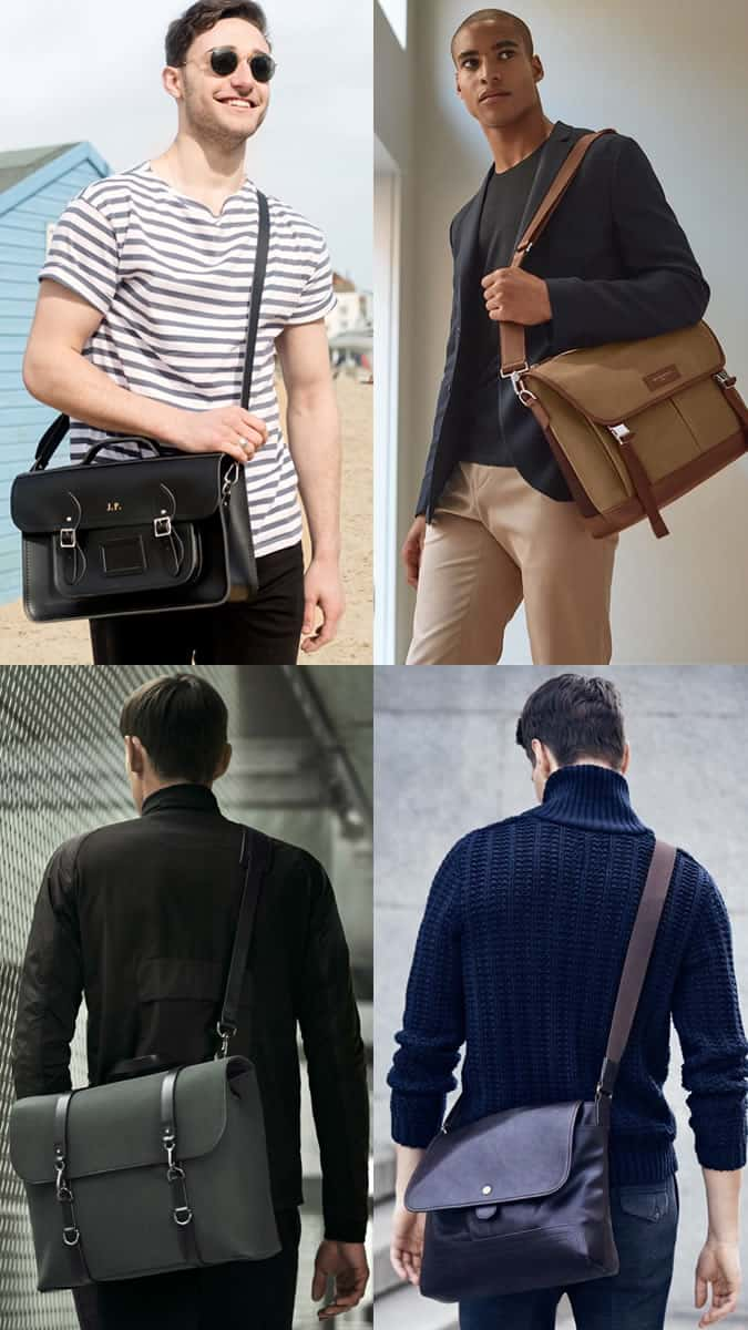 Men's Modern Satchels and Messenger Bags Outfit Inspiration Lookbook 2017 Bag Trends