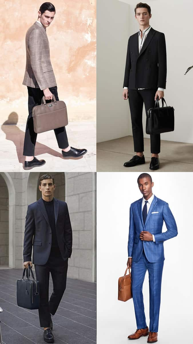 Men's Modern Soft-Sided Briefcases Outfit Inspiration Lookbook 2017 Bag Trends