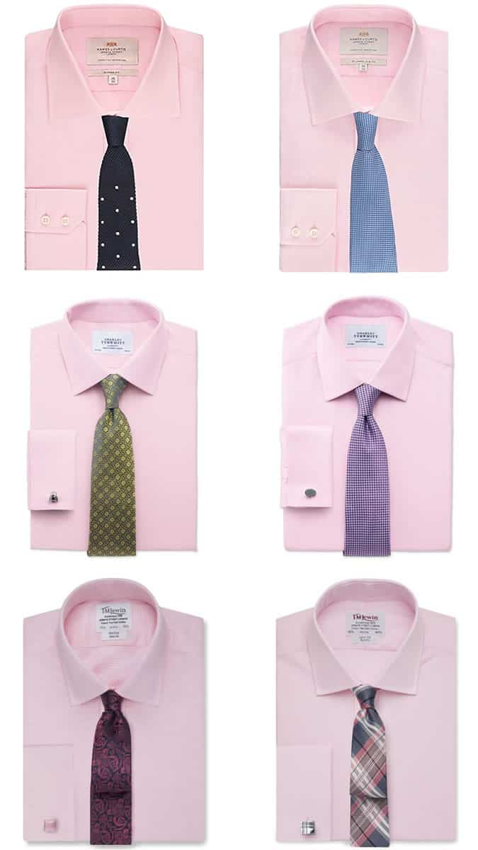 a guide to men s shirt tie combinations fashionbeans ForPink Shirt Tie Combo