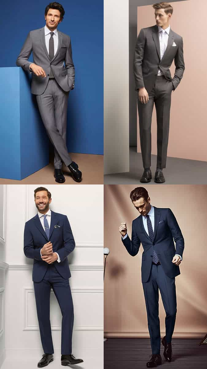 Men's Contemporary Suits Outfit Inspiration Lookbook