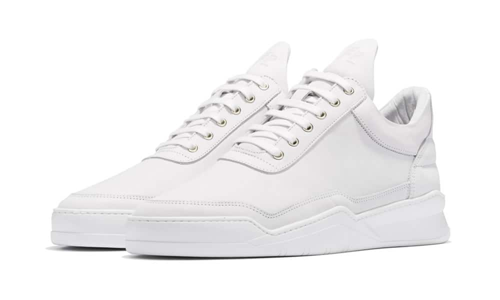 Filling Pieces Low Top Ghost Matt Nubuck White