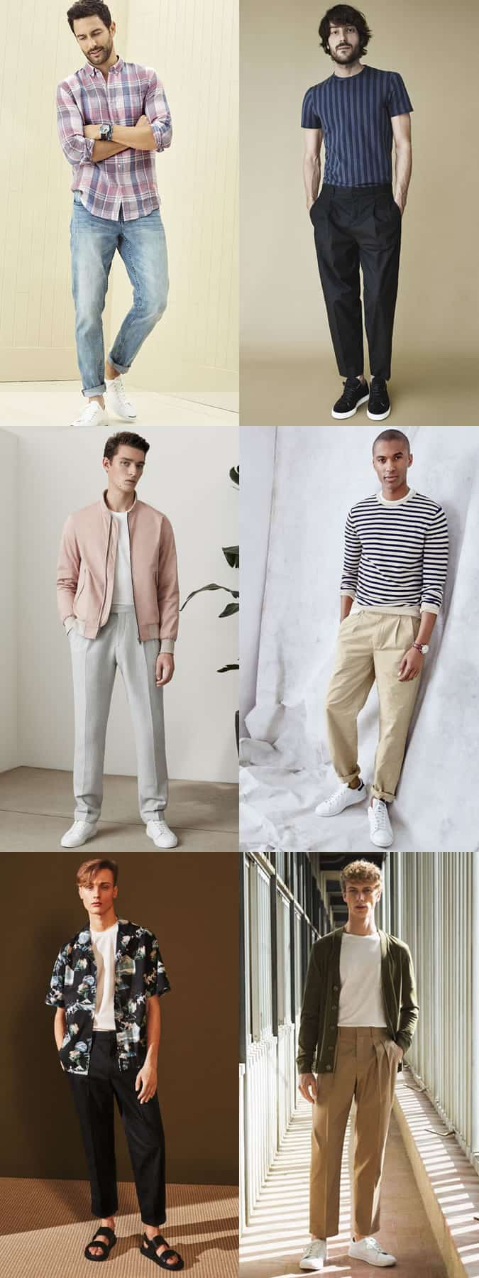 Men's Wide and Relaxed Leg Trousers/Chinos/Jeans Casual Outfit Inspiration Lookbook