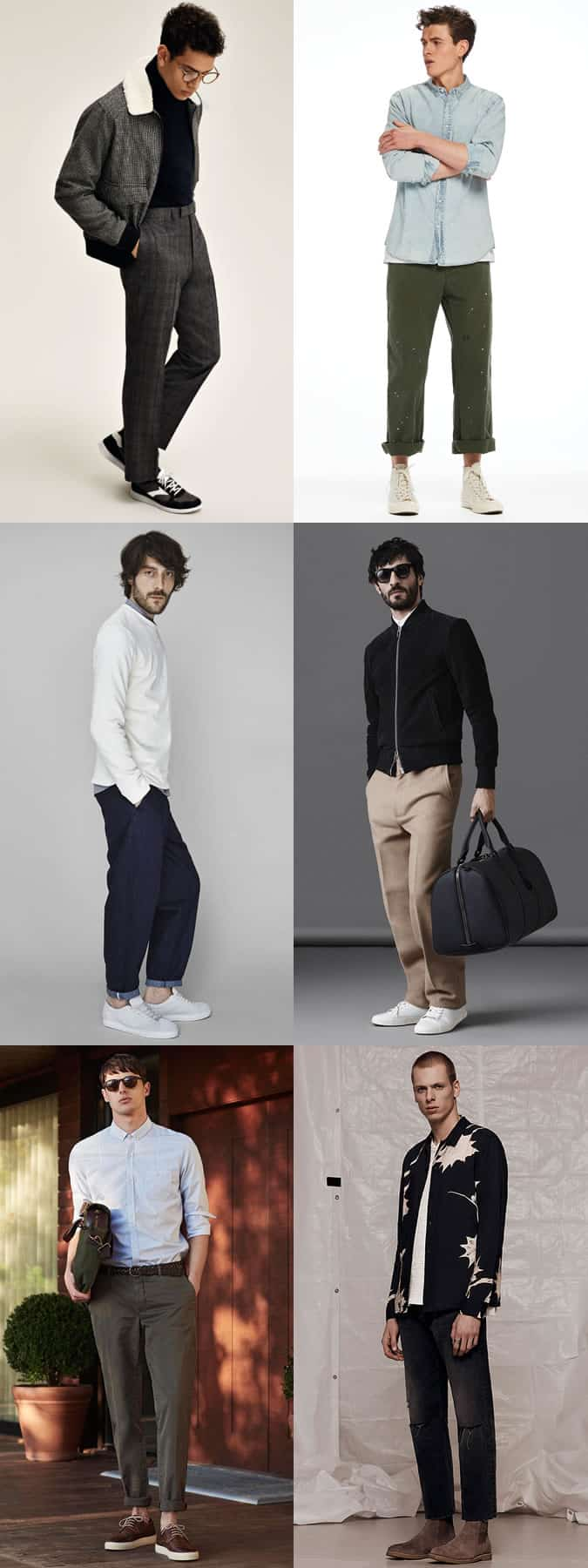 Men's Wide and Relaxed Leg Trousers/Chinos/Jeans Fashion Outfit Inspiration Lookbook