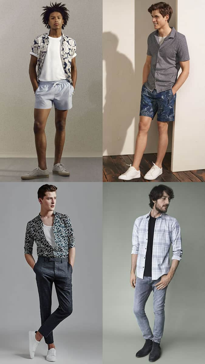Men's Shirt Jackets Summer Outfit Inspiration Lookbook