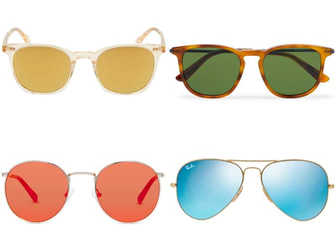 Men's Coloured Lens Sunglasses