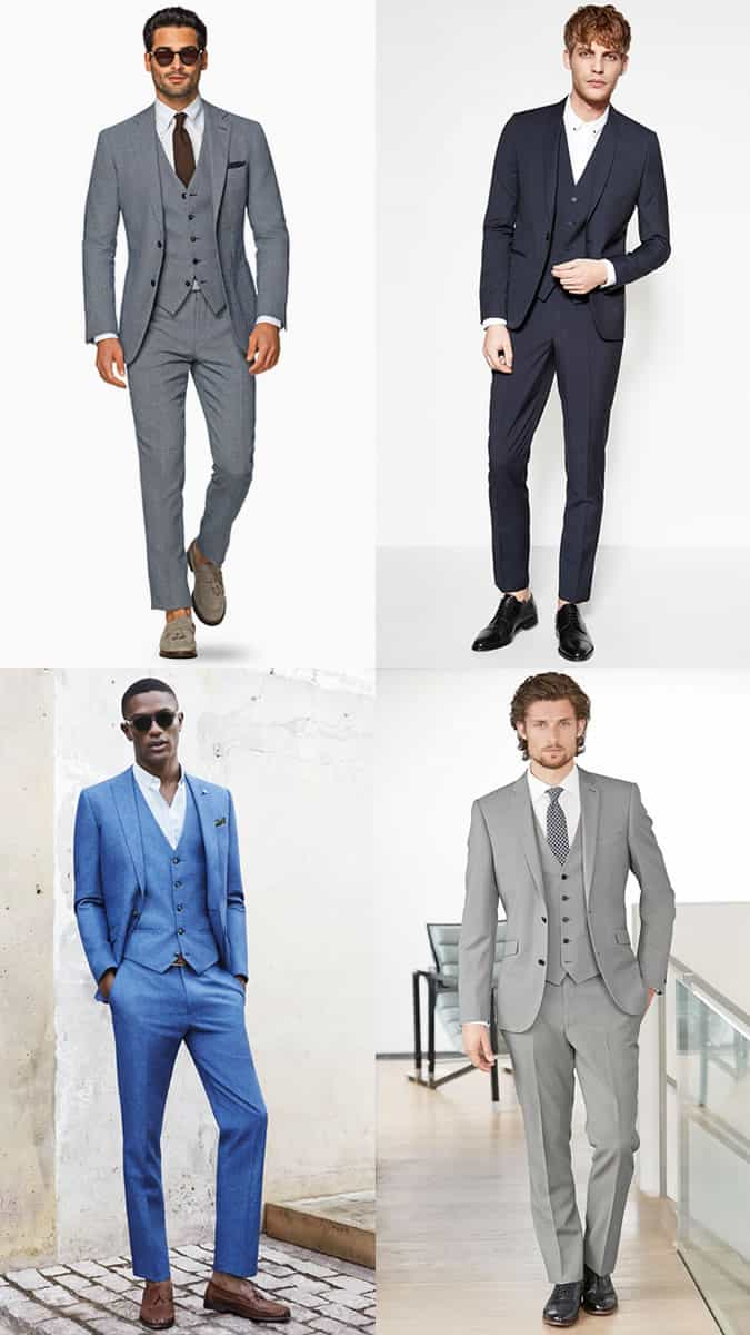 Men's Three-Piece Suits Spring/Summer Wedding Guest Outfit Inspiration