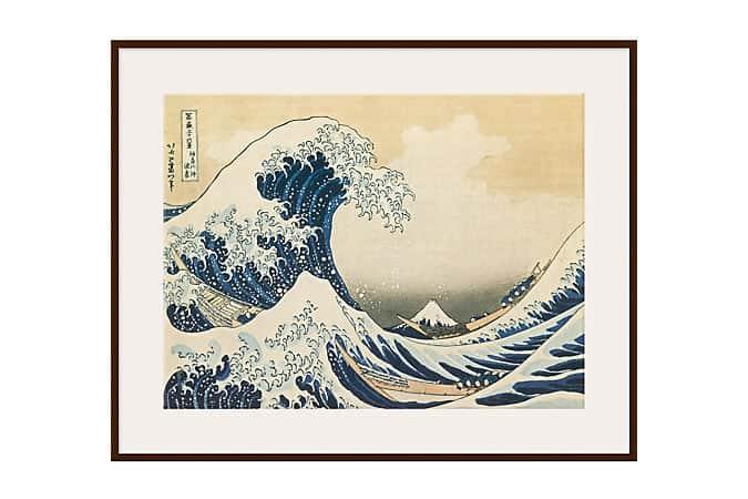 Katsushika Hokusai - The Great Wave off Kanagawa, Light Frame
