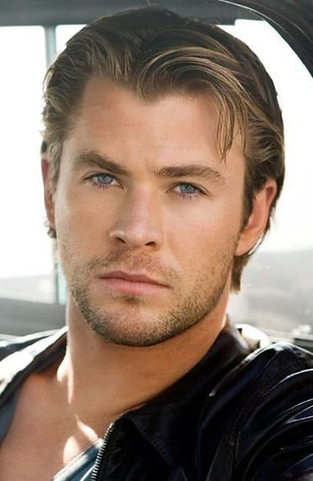 Chris Hemsworth Slicked Back Hair