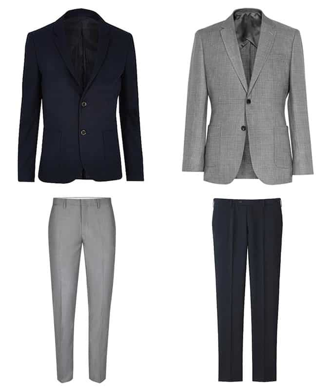 best grey jackets and navy trousers for men