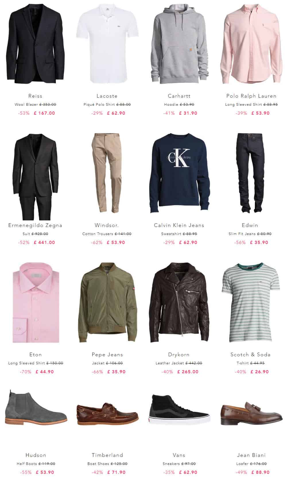 Men's designer clothing at up to 80% off
