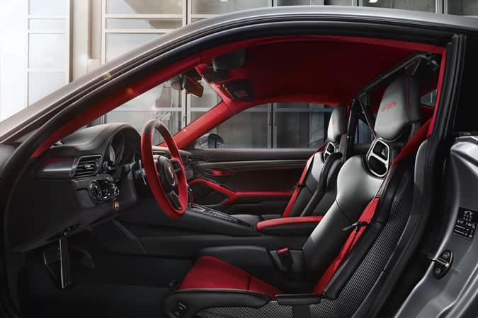 Porsche 911 GT2 RS red and black interior