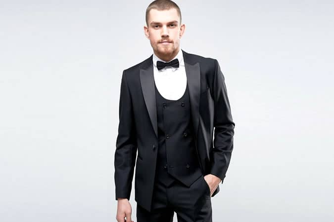 ASOS Slim Suit Tuxedo In Black