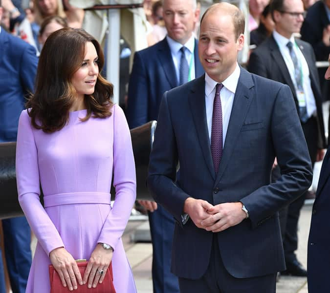 Prince William often matches his tie colour to Kate's dress