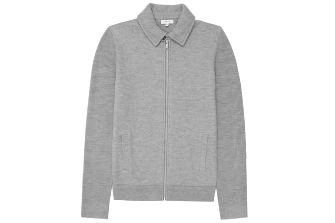 Reiss Dover Zip-Front Knitted Jacket