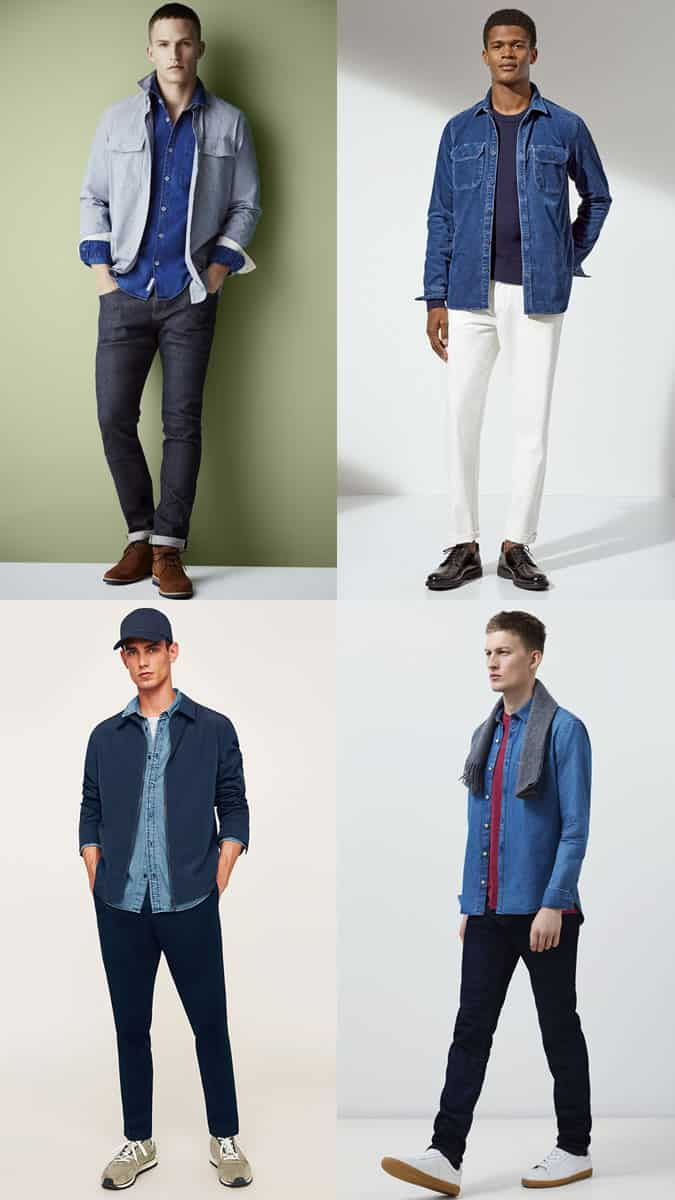 how to wear denim shirts in the autumn