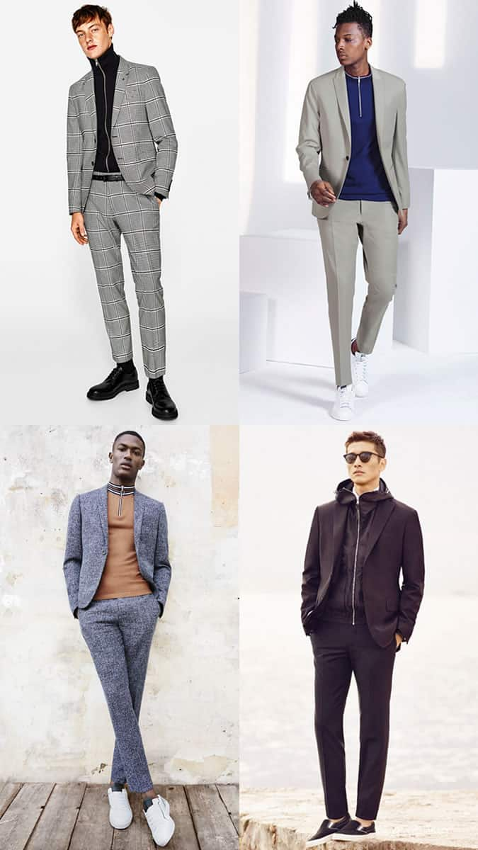 how to wear a tracksuit top under a suit jacket