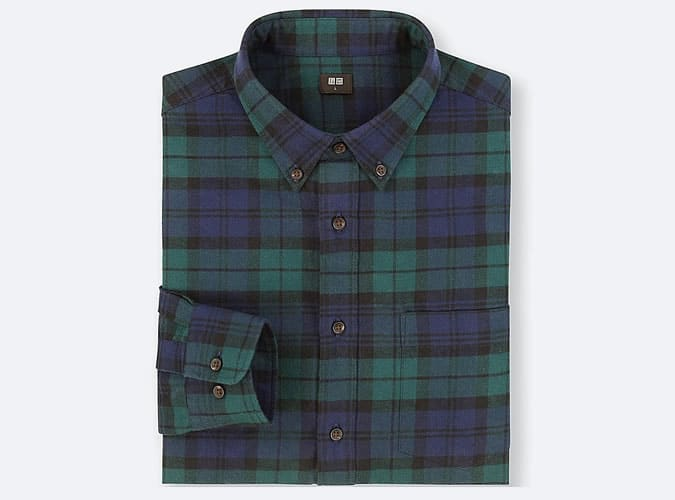 Uniqlo Flannel Checked Long Sleeve Shirt