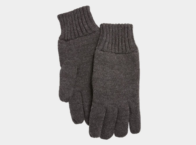 John Lewis Grey Fleece Gloves