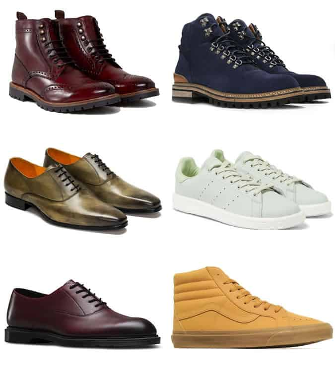 The best colourful men's shoes for winter 2017