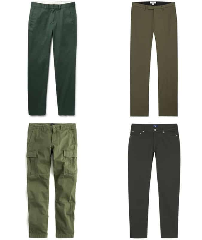 the best green trousers for men