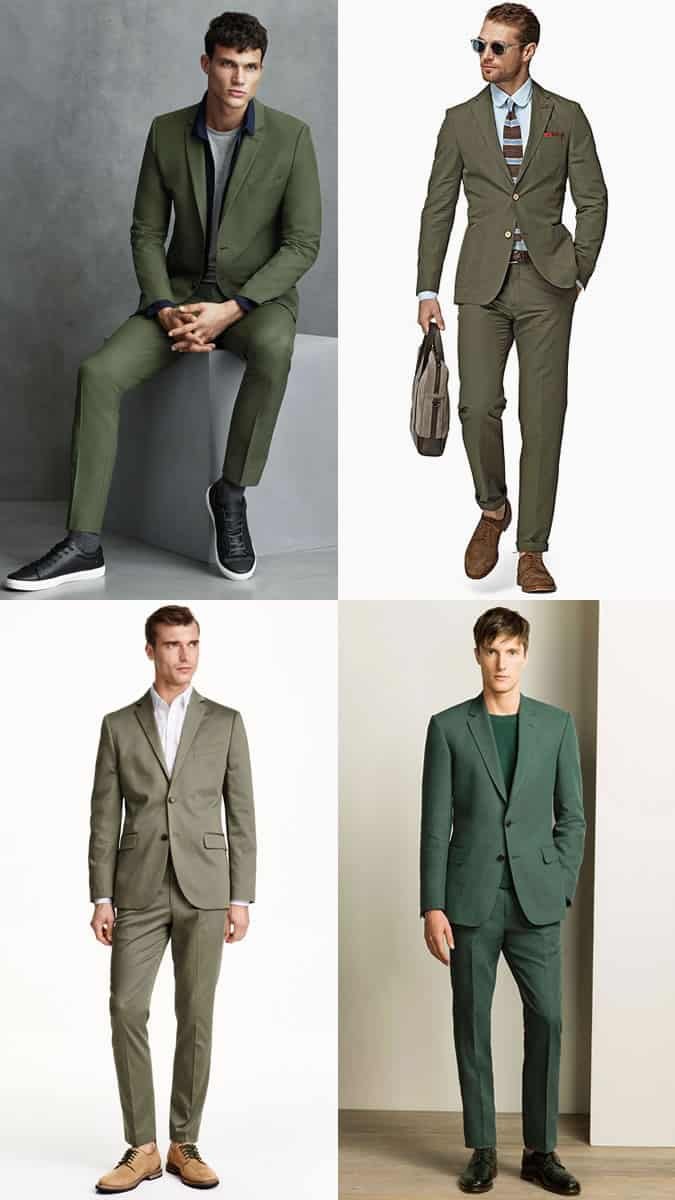 how to wear green tailoring