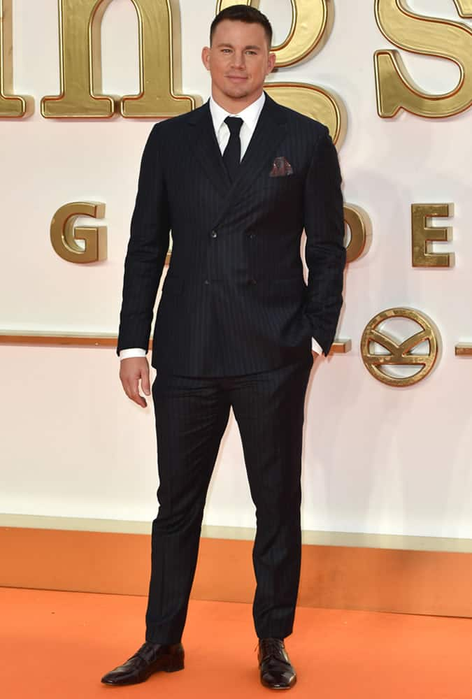 Channing Tatum at the Kingsman: The Golden Circle Premiere in London