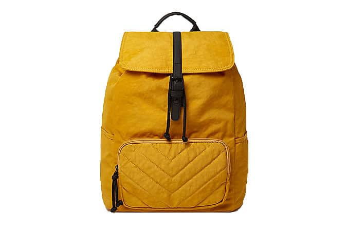 Mustard yellow backpack