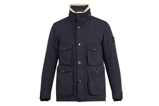 Stone Island David-TC Shearling Collar Jacket