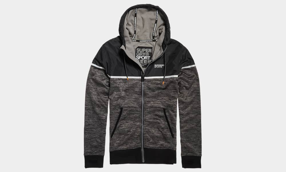 Superdry Sport Training Hybrid Zip Through