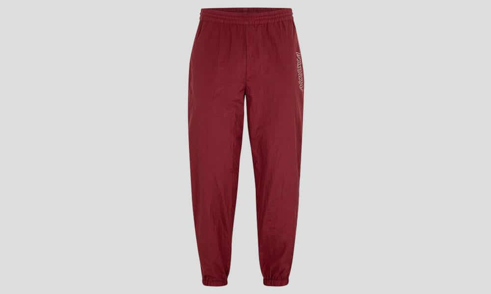 VISION STREET WEAR Burgundy Nylon Track Bottoms