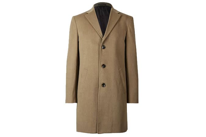 M&S Collection Wool Blend Revere Coat