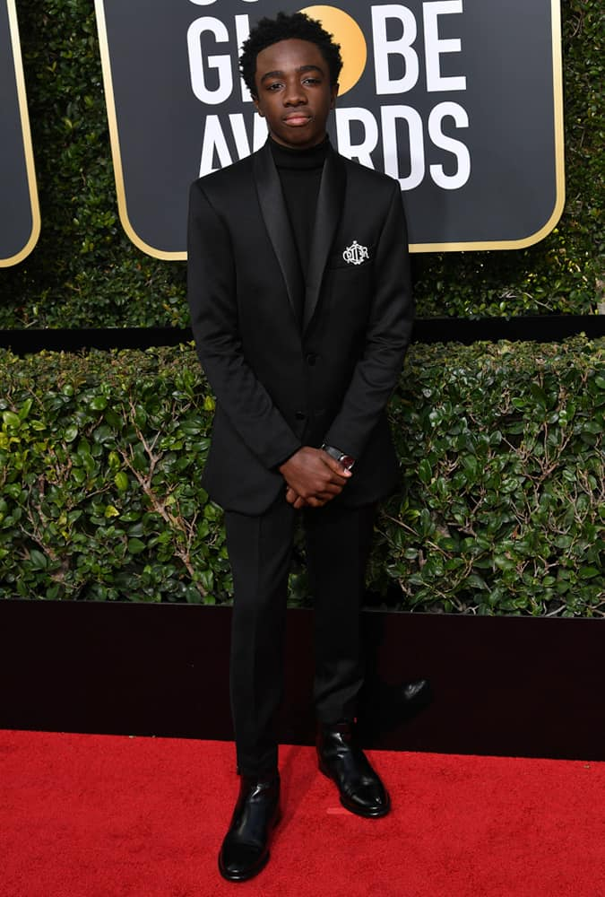 Caleb McLaughlin At The 2018 Golden Globe Awards