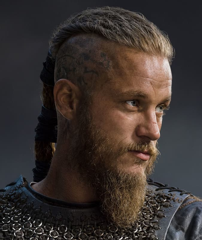 Men's Vikings hairstyle - thick warrior braid worn by Ragnar Lothbrok