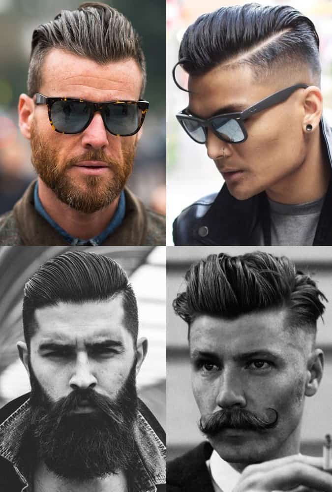 Undercut Hairstyle With Slicked-Back Length On Top